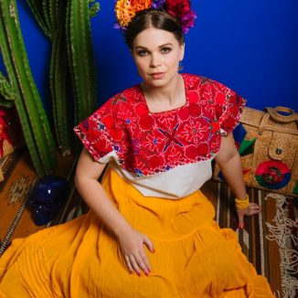 Frida Kahlo fashion shoot
