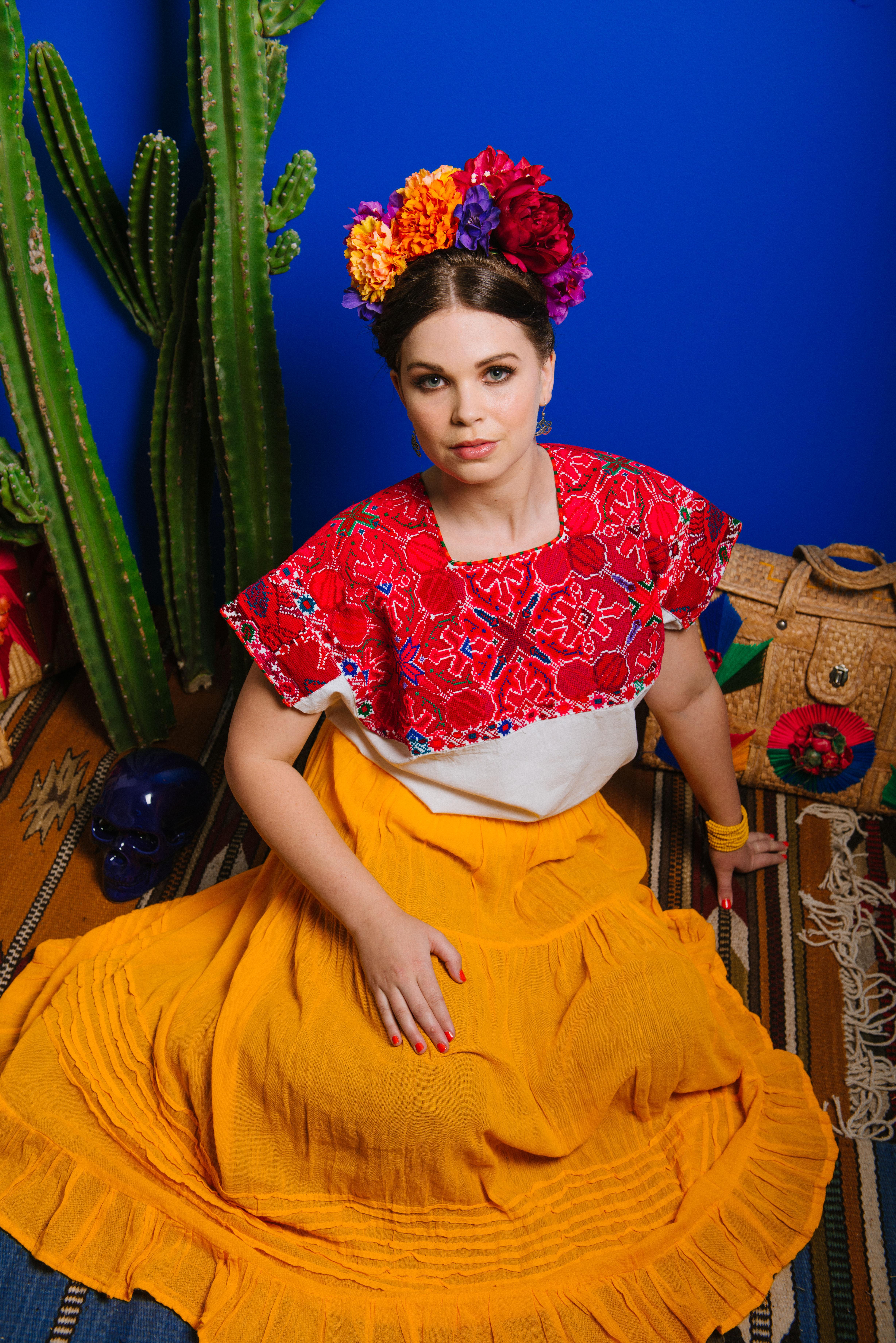 Frida Kahlo fashion shoot