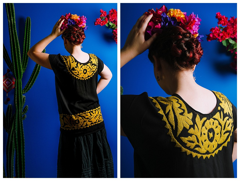 Mexican embroidered smock