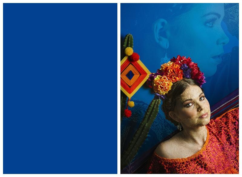 Frida Kahlo muse double exposure