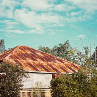 Rusty Queenslander house roof
