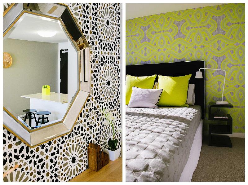 Neon yellow bedroom