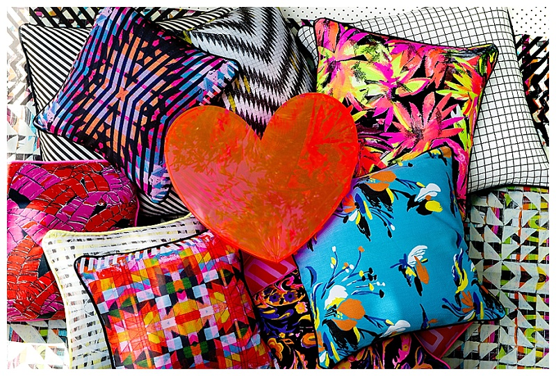 Briony Masters for Neon Vintage Candy Riot cushion collection. www.brionywalker.com.au www.neonvintage.com