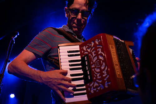John Linnell playing accordion
